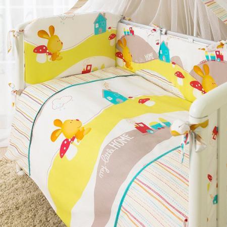 Постельный сет 7 предметов Перина Кроха Веселый кролик (белый) постельный сет 7 предметов перина венеция три друга белый