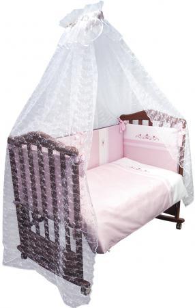 Постельный сет 7 предметов Сонный Гномик Прованс (розовый) сонный гномик борт в кроватку прованс сонный гномик розовый