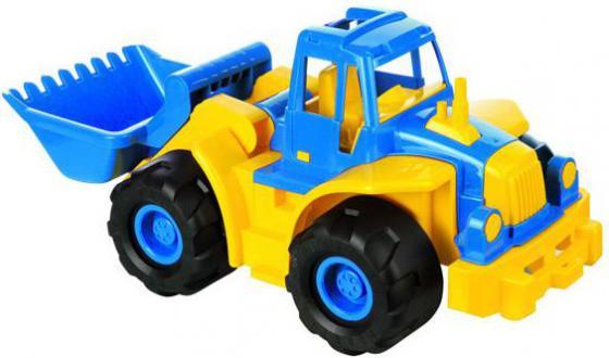 Трактор Нордпласт Богатырь с грейдером 68 см разноцветный 099 машинка игрушечная нордпласт трактор ангара с грейдером и ковшом