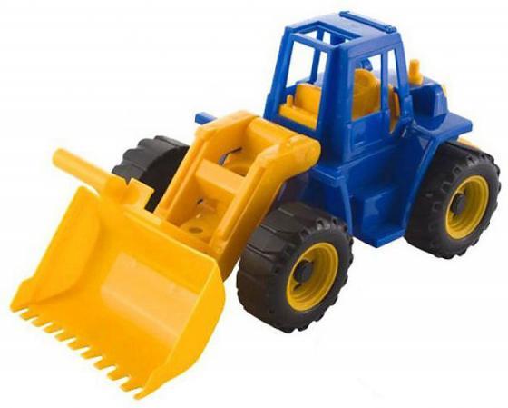 Трактор Нордпласт Ангара с грейдером 35.5 см разноцветный машинка игрушечная нордпласт трактор ангара с грейдером и ковшом