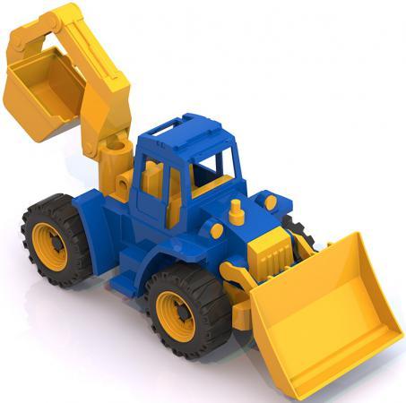 купить Трактор Нордпласт Ангара с грейдером и ковшом 40 см разноцветный 141 106296 по цене 335 рублей