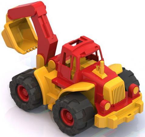 Трактор Нордпласт Богатырь с ковшом 50.5 см разноцветный 098 трактор игрушечный нордпласт трактор дон