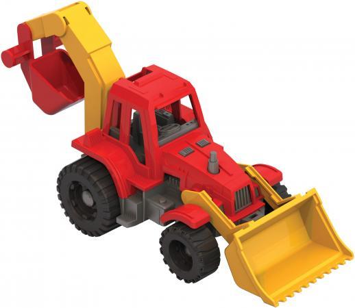 купить Трактор Нордпласт Ижора с грейдером и ковшом 152 разноцветный в ассортименте 106335 по цене 220 рублей