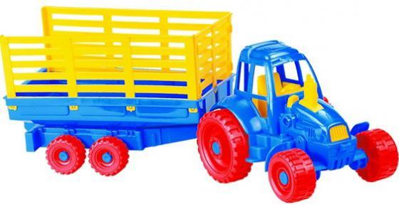Трактор Нордпласт с прицепом 54 см разноцветный цвет в асс.