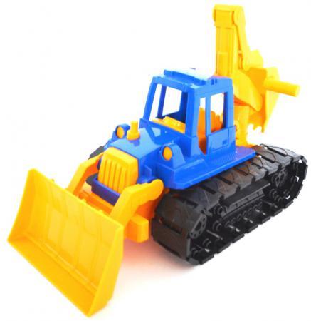 купить Трактор Нордпласт Байкал с грейдером и ковшом 40 см разноцветный 139 по цене 380 рублей