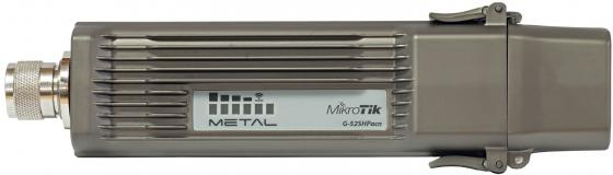 Точка доступа MikroTik RBMETALG-52SHPACN 802.11acbgn 2.4 ГГц 5 ГГц 1xLAN серый беспроводная точка доступа mikrotik rbmapl 2nd map lite with 650mhz cpu 64mb ram 1xlan built in dual chain 2 4ghz 802 11bgn dual chain wireless with integrated