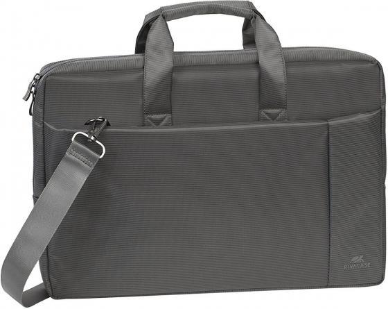 """Сумка для ноутбука 17.3"""" Riva case 8251 полиэстер синтетика серый цена и фото"""