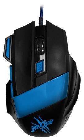 Мышь проводная Oklick 775G чёрный синий USB