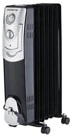 Масляный радиатор Polaris PRE B 0715 — белый чёрный обогреватель polaris cr c 0715 белый черный