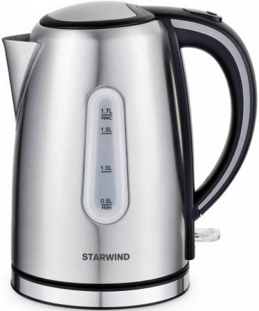 Чайник StarWind SKS5540 2200 Вт серебристый 1.7 л нержавеющая сталь starwind shm6251
