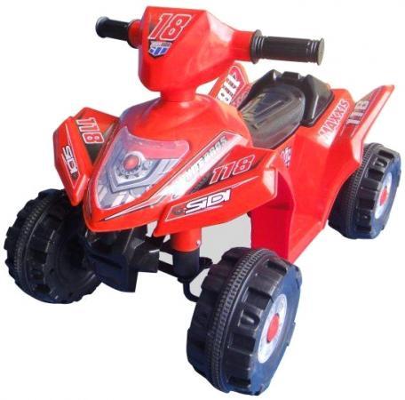 Квадроцикл эл., Пламенный мотор красный, аккум 6V/4AH,18W 86076 пламенный мотор машинка инерционная volvo пожарная охрана