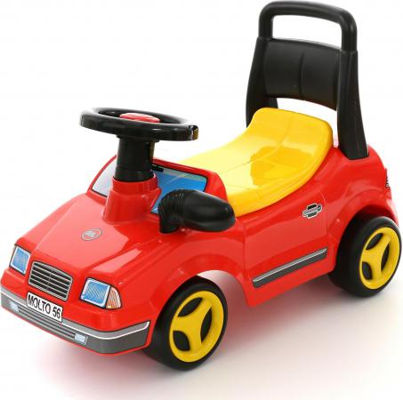 Каталка-машинка Полесье Вихрь с гудком пластик от 1 года на колесах красный 7994 каталка детская полесье полесье каталка буран 1 красная