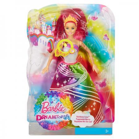 Кукла Barbie (Mattel) Barbie Радужная принцесса с волшебными волосами в ассортименте DPP90 стоимость