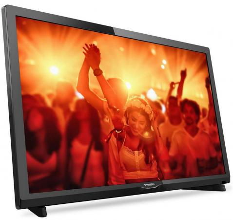 "Телевизор LED 24"" Philips 24PHT4031/60 черный 1366x768 200 Гц USB SCART S/PDIF led телевизор philips 49put6162"