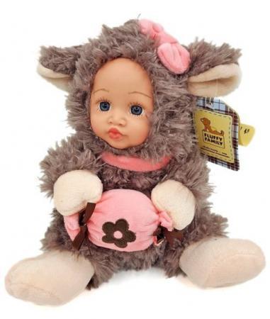 Мягкая игрушка ягненок Fluffy Family Мой ягненок разноцветный искусственный мех пластик 681235 fluffy family игрушка мой ягненок fluffy family