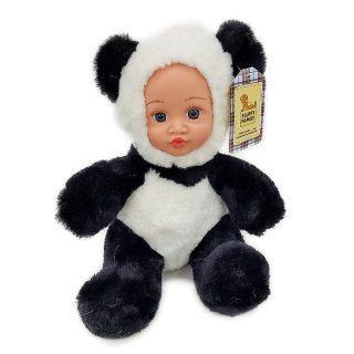 Мягкая игрушка панда Fluffy Family Крошка панда 30 см белый черный бежевый текстиль искусственный мех пластик 681241 мягкие кресла family кресло игрушка панда f 55