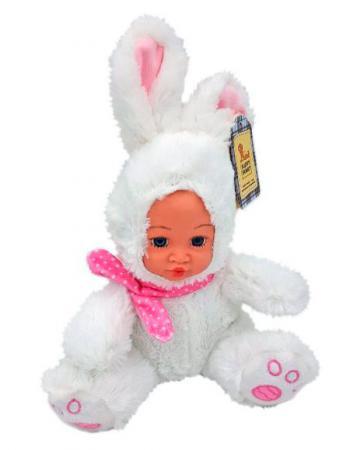 Мягкая игрушка заяц Fluffy Family Мой зайка белый искусственный мех плюш текстиль пластик 681234 fluffy family игрушка божья коровка fluffy family