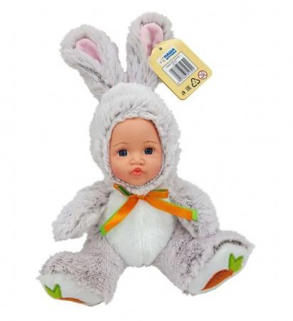 Мягкая игрушка заяц Fluffy Family Мой зайчонок серый искусственный мех плюш пластик текстиль 681239 fluffy family игрушка мой ягненок fluffy family