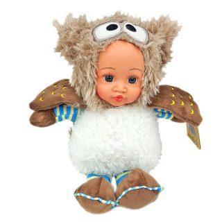 Мягкая игрушка сова Fluffy Family Мой совенок разноцветный пластик искусственный мех 681233