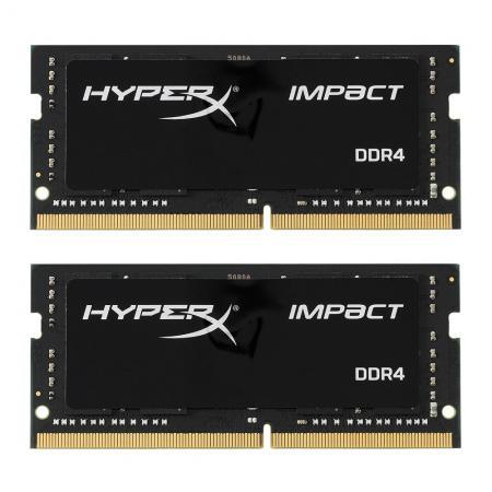 Оперативная память для ноутбуков SO-DDR4 32Gb (2x16Gb) PC19200 2400MHz Kingston HX424S14IBK2/32 оперативная память для ноутбуков so ddr4 16gb pc19200 2400mhz kingston kvr24se17d8 16