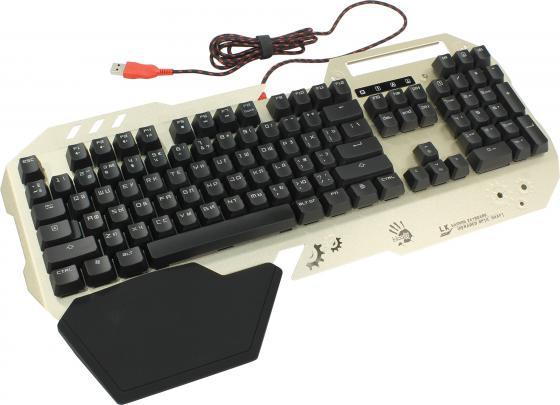 купить Клавиатура проводная A4TECH Bloody B860 USB золотистый онлайн