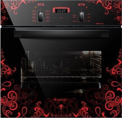 Электрический шкаф Gefest 622-02 К16 черный с рисунком электрический шкаф gefest 622 02 к26 черный