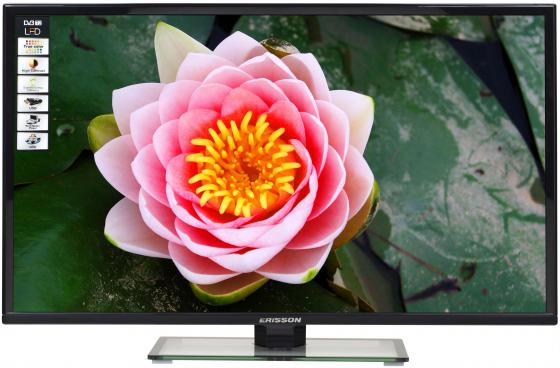 Телевизор 32 Erisson 32 LET 41 T2 черный 1366x768 50 Гц VGA HDMI USB led телевизор erisson 32 led 15 t2