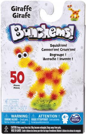 Конструктор Bunchems Животные 50 элементов 3 шт.в ассортименте конструктор репейник набор дорожный bunchems