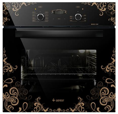 Электрический шкаф Gefest ДА 622-02 К19 черный с рисунком электрический шкаф gefest 622 02 к26 черный