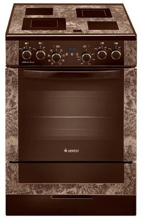 Электрическая плита Gefest 6560-03 0001 коричневый газовая плита gefest пгэ 5102 02 0001 электрическая духовка коричневый