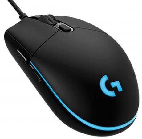 Мышь проводная Logitech Gaming Mouse G PRO чёрный USB 910-004856 мышь 910 004856 logitech gaming mouse g pro usb 200 12000dpi