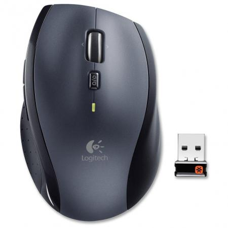 Мышь беспроводная Logitech Wireless Mouse M705 NEW чёрный серый USB 910-001949 мышь logitech m560 wireless mouse black usb 910 003882