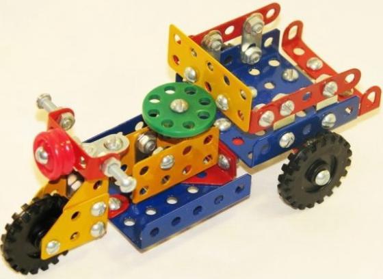 Металлический конструктор Самоделкин Юный гений №1 179 элементов 03020/Ц конструктор металлический грузовик и трактор 345 элементов