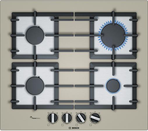 Варочная панель газовая Bosch PPP6A8B90 кварцевый металлик