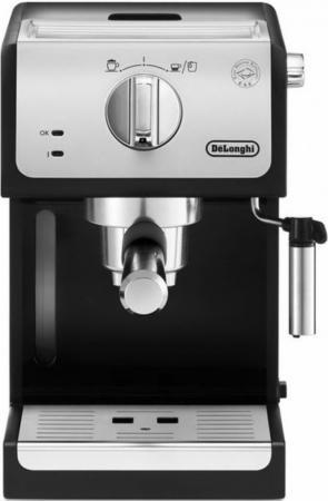 Кофеварка DeLonghi ECP 33.21 1100 Вт серебристый/черный кофемашина delonghi ecam 45 760 w белый