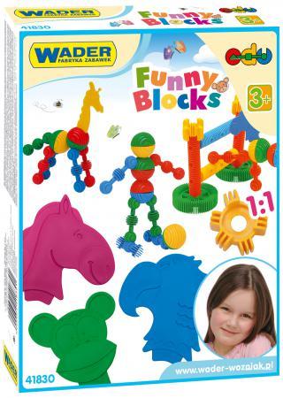 Конструктор Wader Funny blocks 36 элементов 41830 wader детская посуда 20 элементов