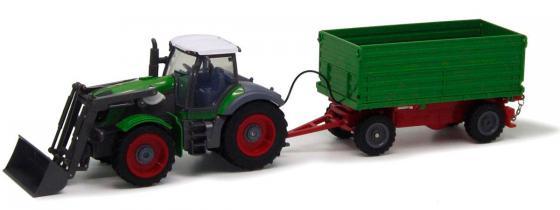 Трактор с ковшом Пламенный Мотор зелёный от 6 лет пластик  87577 самосвал пламенный мотор желтый от 6 лет пластик 87568