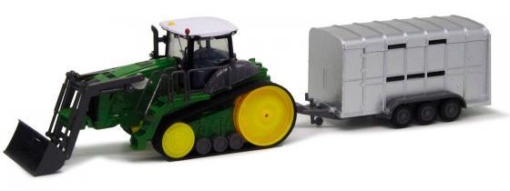 Трактор с ковшом Пламенный Мотор зелёный  6 лет пластик 87572