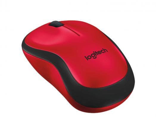 Мышь беспроводная Logitech Wireless Mouse M220 SILENT красный USB 910-004880 logitech wireless mouse m560
