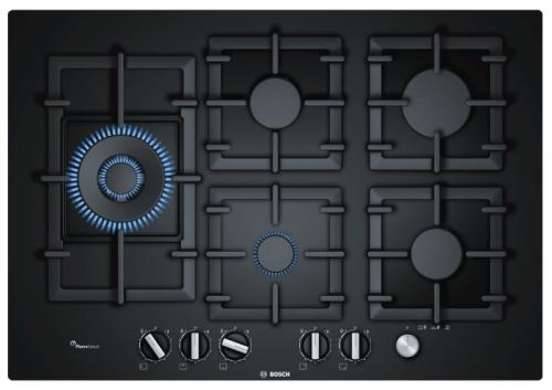 Варочная панель газовая Bosch PPS7A6M90 черный клещи силовые для работы при сварке truper pps 9r 17426 230мм