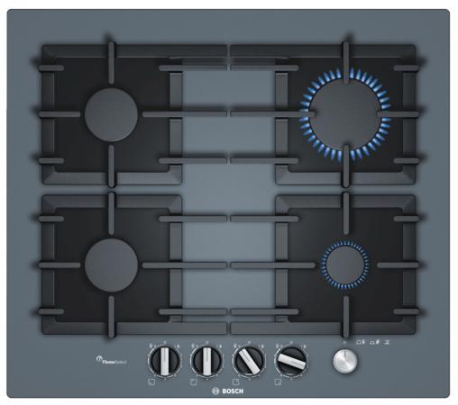 Варочная панель газовая Bosch PPP6A9M90 серый bosch ppp 616 b 90 e в украине