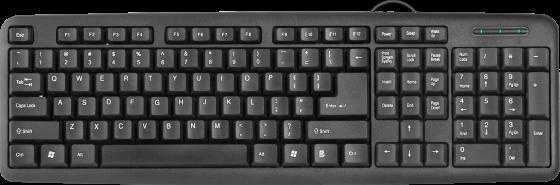 Клавиатура проводная DEFENDER HB-420 RU USB черный 45420 клавиатура defender hb 420 ru hb 420 ru черный полноразмерная usb