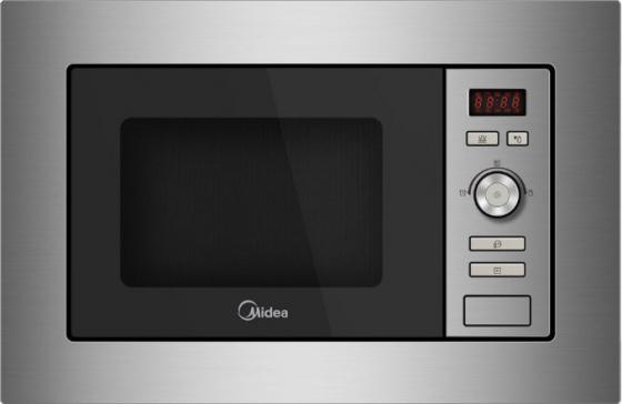 Встраиваемая микроволновая печь Midea AG820BJU-SS 800 Вт серебристый вытяжка встраиваемая midea e60meb0v02 серебристый