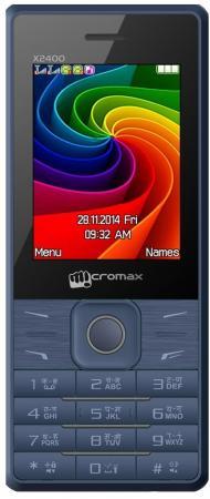 Мобильный телефон Micromax X2400 синий 2.4 мобильный телефон micromax bolt q379 черный