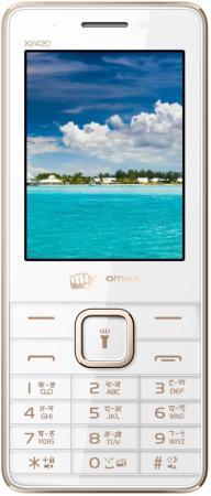 Мобильный телефон Micromax X2420 белый шампань 2.4 смартфон micromax q326 шампань q326 champagne