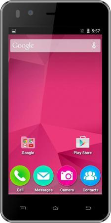Смартфон Micromax Q424 черный 4.5 8 Гб Wi-Fi GPS 3G смартфон micromax q334 canvas magnus черный 5 4 гб wi fi gps 3g