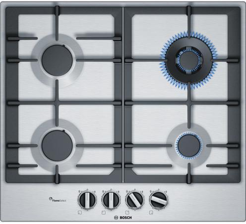 Варочная панель газовая Bosch PCH6A5B90R серебристый bosch pch 615b90e