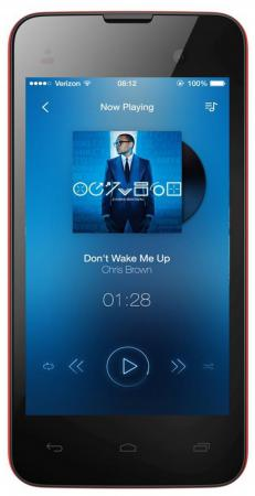 Смартфон Micromax D306 красный 4 4 Гб Wi-Fi GPS 3G смартфон micromax bolt q346 lite 3g 8gb blue
