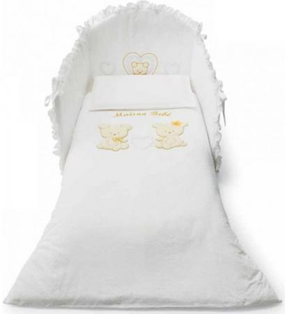 Постельный сет 5 предметов Pali Smart Maison Bebe (белый) колыбели pali плетеная люлька smart maison bebe