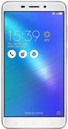 Смартфон ASUS ZenFone 3 Laser ZC551KL серебристый 5.5 32 Гб LTE Wi-Fi GPS 3G 90AZ01B4-M00060 смартфон asus zenfone zf3 laser zc551kl 32gb серебристый
